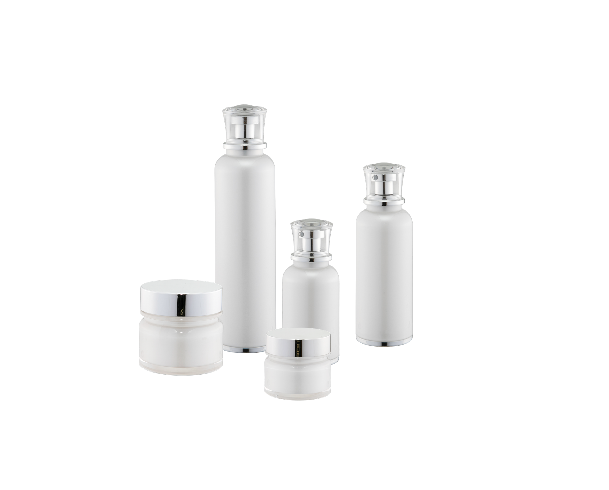 KR-4012 High class new arrival round cosmetic package acrylic lotion bottle and cream container jar